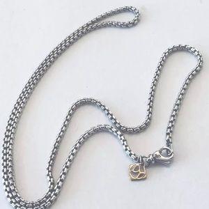 "David Yurman 28"" Small 2.7mm Necklace 14k Tag"